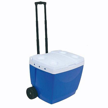 Caixa Térmica C/ Rodas 42 Litros Azul MOR