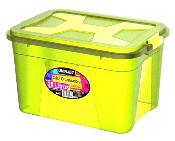 Caixa Organizadora Multiuso 20 Litros Verde Uninjet