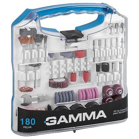 Kit Acessórios p/ Microrretífica C/ 180 pçs G19507AC Gamma