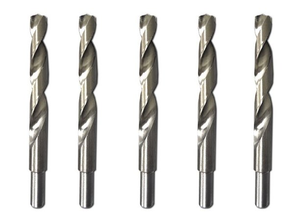 Kit C/ 5 Brocas De Aço Rápido P/ Metal 19 Mm, Polida Mtx