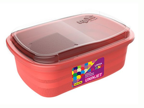 Pote P/ Freezer / Microondas 330 ml PP Rosa Uninjet