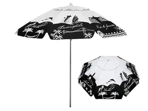 Guarda-Sol Bagum 1,80mts Listras Fashion Preto Mor