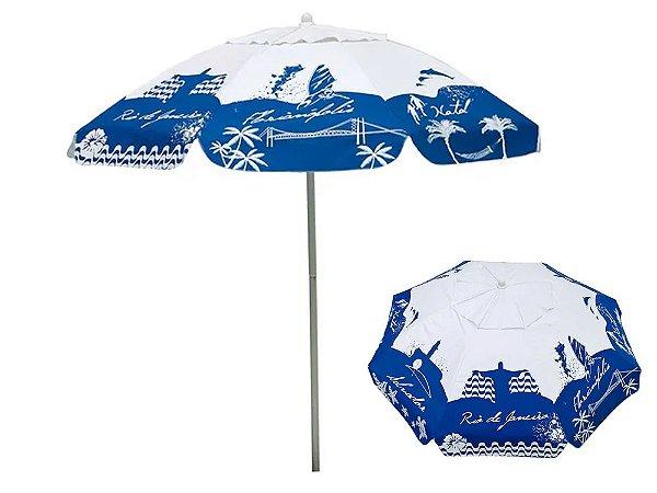 Guarda-Sol Bagum 1,80mts Listras Fashion Azul Mor