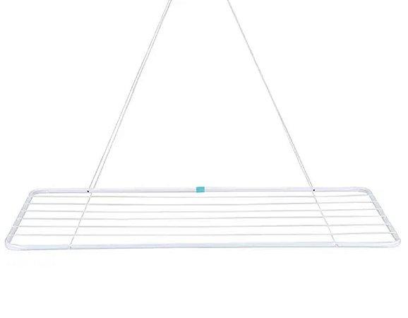 Varal de Teto em Aço 56 cm x 1,2 Mts P/ Lavanderia Mor