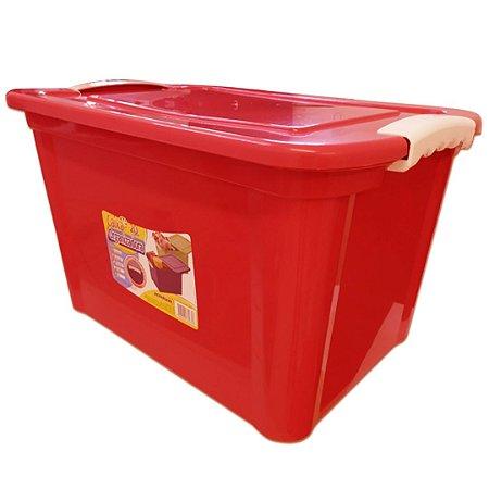 Caixa Organizadora 20 Litros Vermelha Agraplast