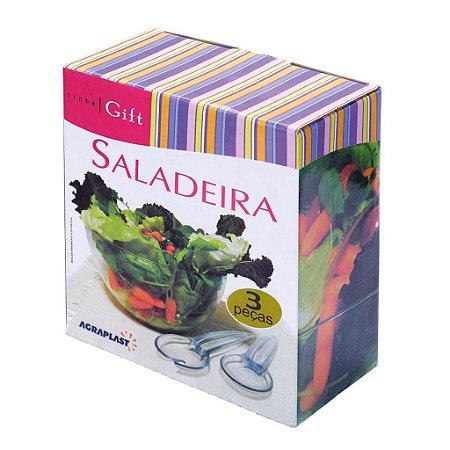 Conjunto Saladeira 3 Pçs Linha Gift  712 Agraplast
