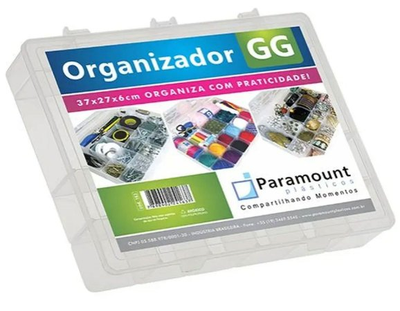 Box Organizador GG C/ Tampa - 37x27x6cm 163 Paramount