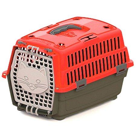 Caixa Transporte Gato Travel N1 Vermelha 14835 My Pet