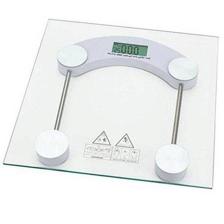 Balança Digital Quadrada Transparente 180kg 123Util