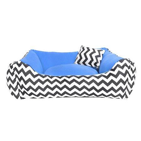 Cama de cachorro 60 x 60 Chevron Azul