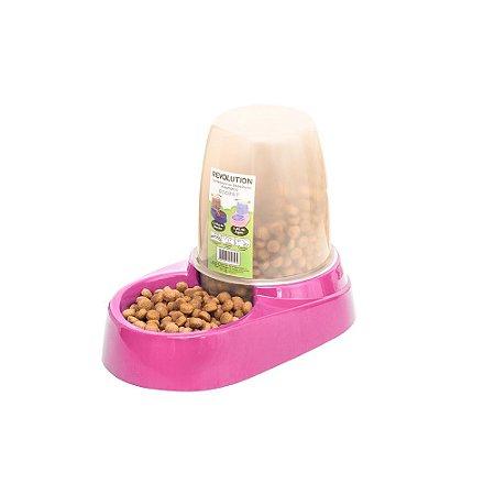 Comedouro E Bebedouro Automático 1,8l Cachorro Gato Rosa