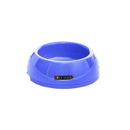 Comedouro e Bebedouro Simples 600ml Cachorro e Gato Azul