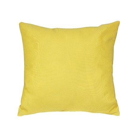 Almofada Decorativa P/ Sofá Lisa Amarelo