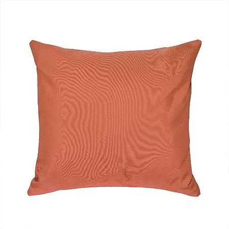 Almofada Decorativa P/ Sofá Lisa Laranja