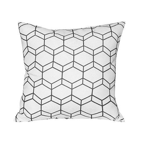 Almofada Decorativa P/ Sofá Lisa Geometrica