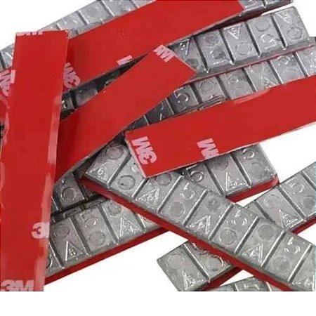Contrapeso de Chumbo Extra Fino 05x05 P/ Balanceamento de Rodas 50 pçs