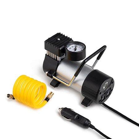 Compressor de Ar Metálico 12V Vazão 25L/MIN 150Psi C/ Bicos AU616 Multilaser