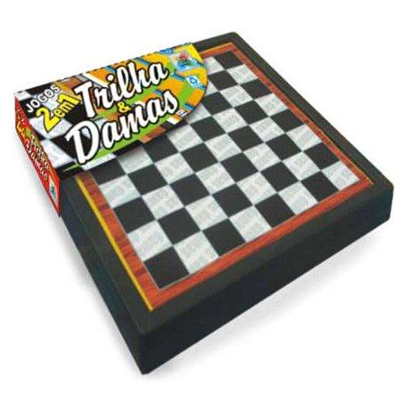 Jogos de Tabuleiro 2 em 1 C/ TRILHA E DAMA 1862 Big Boy