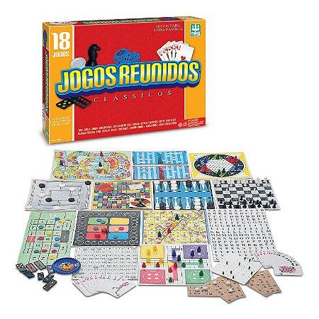 Jogos de Tabuleiro Jogos Reunidos 18 Clássicos 1164 - Nig Brinquedos
