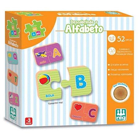 Brinquedo Infantil Educativo Descobrindo o Alfabeto 52 Peças