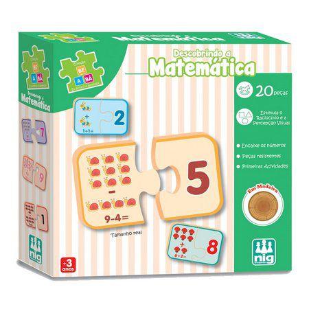 Brinquedo Educativo Infantil Descobrindo Matemática 20 Peças