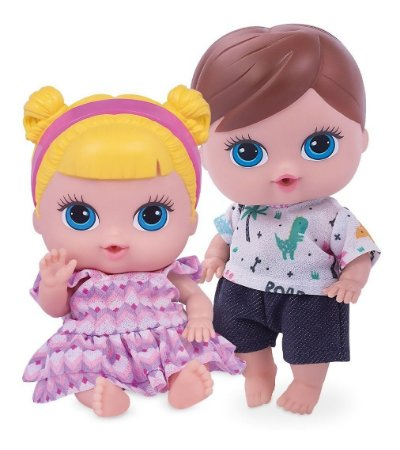 Boneca e Boneco Gêmeos Baby Collection Super Toys