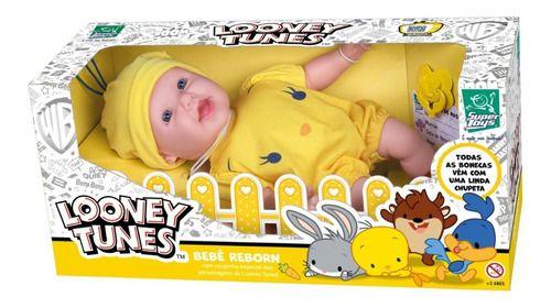 Boneca Infantil Reborn Looney Tunes Piu Piu Super Toys