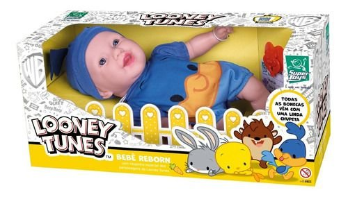 Boneca Infantil Reborn Looney Tunes Papa Leguas Super Toys