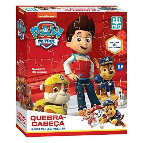 Quebra Cabeça Patrulha Canina - 30 Pçs em Madeira 0682 Nig Brinquedos