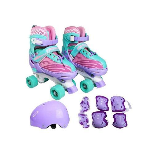 Patins Infantil Quadrado Violeta com Acessórios 34-37 Unitoys