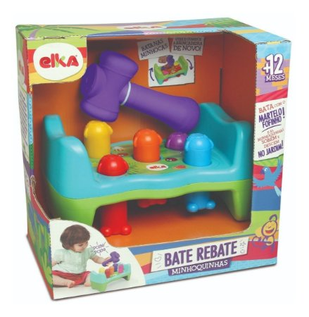 Brinquedo Infantil Educativo Bate ou Rebate Minhoquinha Elka