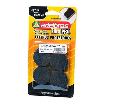 Adesivos Protetores Feltro Prático Redondo 37mm Adelbras