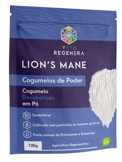 LION´S MANE COGUMELOS DE PODER 100G - VIVA REGENERA