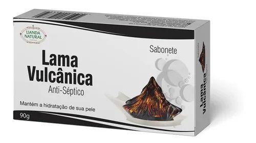 SABONETE NATURAL ANTISSÉPTICO DE LAMA VULCÂNICA 90G - LIANDA NATURAL