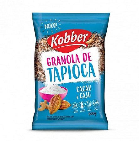 GRANOLA DE TAPIOCA CACAU E CASTANHA DE CAJU 600G - KOBBER