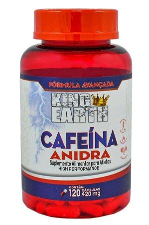 CAFEÍNA ANIDRA 420MG 120 CÁPSULAS - KING EARTH