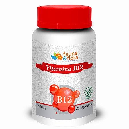 VITAMINA B12 500MG 30CAPS - FAUNA E FLORA