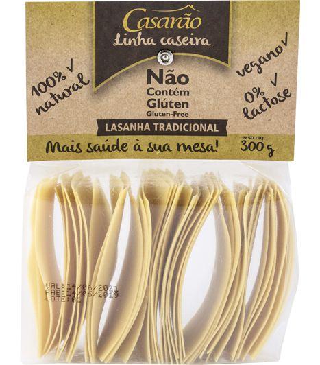 LASANHA TRADICIONAL MASSA DE ARROZ SEM GLÚTEN 300G - CASARÃO