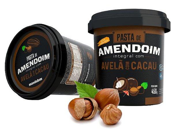 PASTA DE AMENDOIM CACAU COM AVELÃ 450G - MANDUBIM