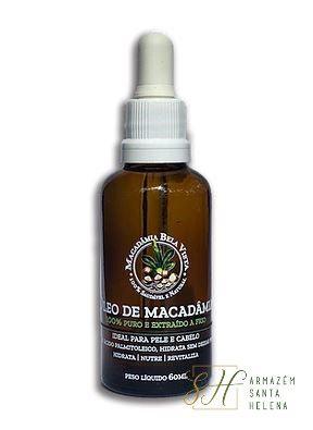 ÓLEO DE MACADÂMIA 100% PURO 60ML - BELA VISTA