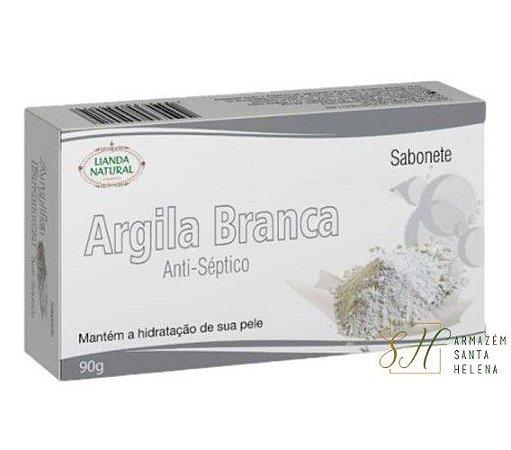 SABONETE NATURAL ANTISSÉPTICO DE ARGILA BRANCA 90G - LIANDA NATURAL