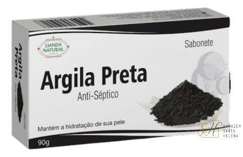 SABONETE NATURAL ANTISSÉPTICO DE ARGILA PRETA 90G - LIANDA NATURAL