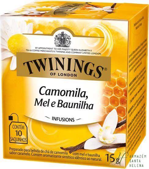 CHÁ CAMOMILA, MEL E BAUNILHA 10 SAQUINHOS 15G - TWININGS