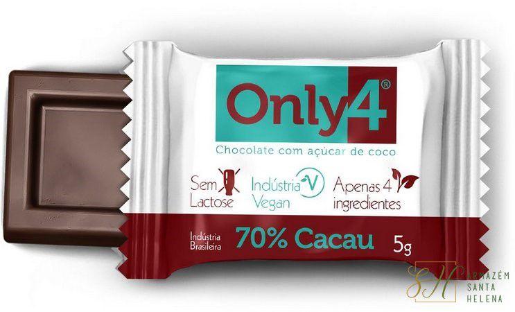 CHOCOLATE 70% DE PURO CACAU 5G - ONLY4