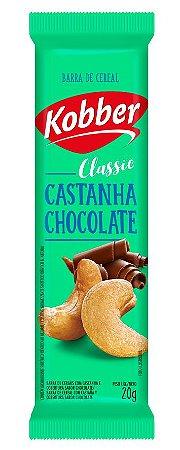 BARRA DE CEREAIS CASTANHA DE CAJU COM CHOCOLATE 20G - KOBBER