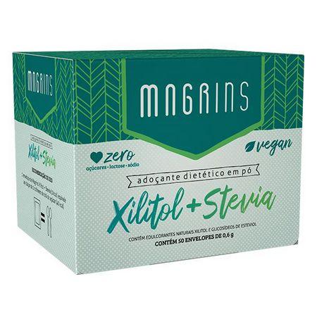 ADOÇANTE DIETÉTICO XILITOL E STEVIA 50 SACHÊS - MAGRINS