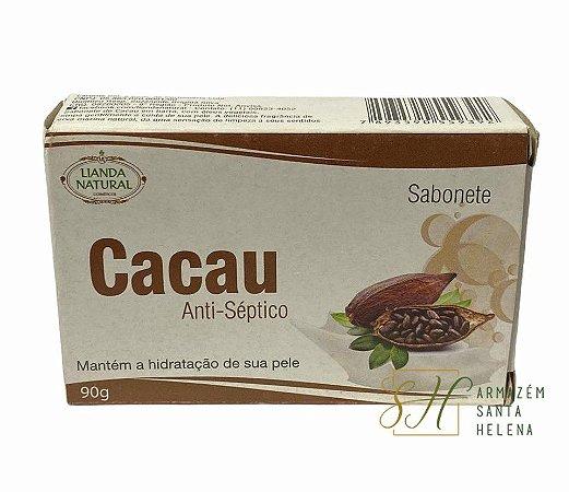 SABONETE NATURAL ANTISSÉPTICO DE CACAU 90G - LIANDA NATURAL