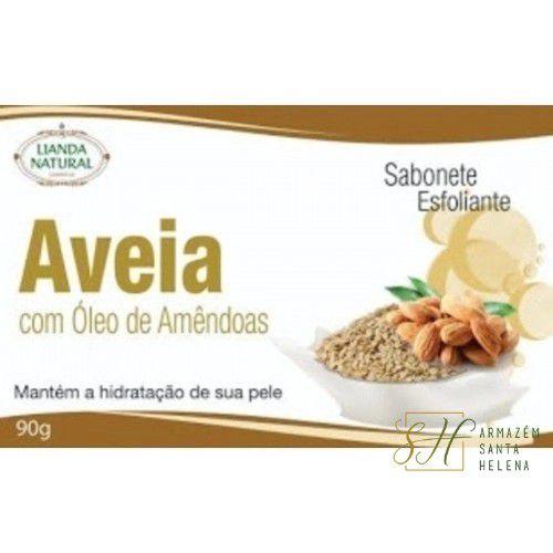 SABONETE NATURAL ANTISSÉPTICO DE AVEIA COM ÓLEO DE AMÊNDOAS 90G - LIANDA NATURAL