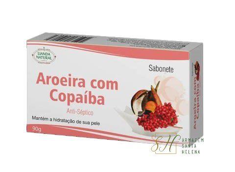 SABONETE NATURAL ANTISSÉPTICO DE AROEIRA COM COPAÍBA 90G - LIANDA NATURAL