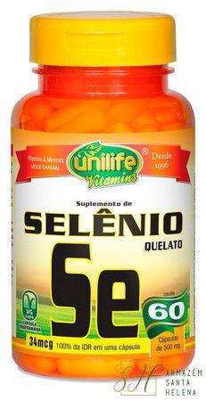 SELÊNIO QUELATO 60 CÁPSULAS - UNILIFE